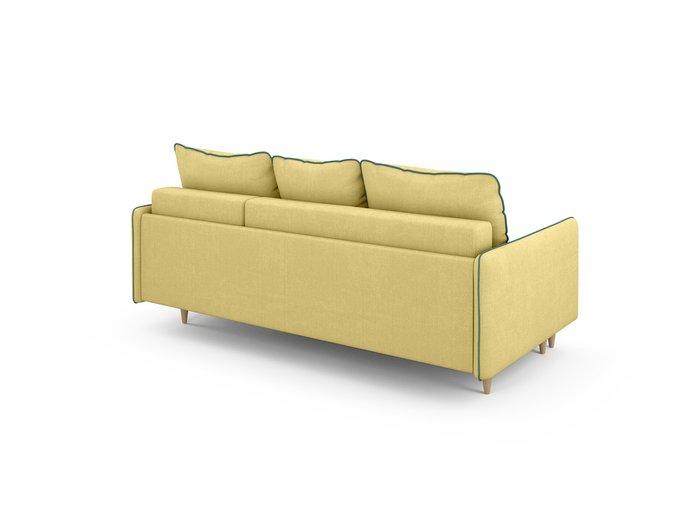 Угловой  Диван-кровать Ron правый желтого цвета