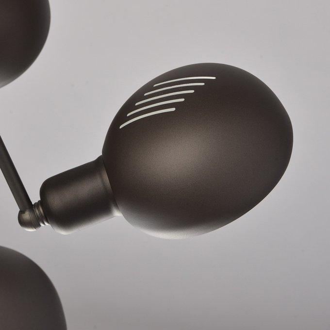 Потолочная люстра Таун из металла темно-серого цвета