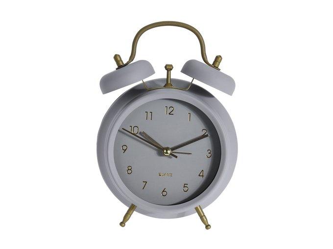 Часы-будильник настольные Joli серого цвета