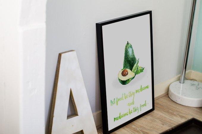"""Постер """"Авокадо"""" А4"""