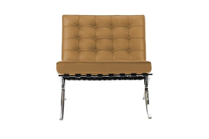 Кресло Barcelona Chair орехового цвета