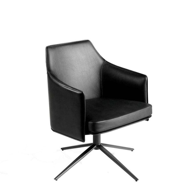 Поворотное кресло с обивкой из кожезаменителя