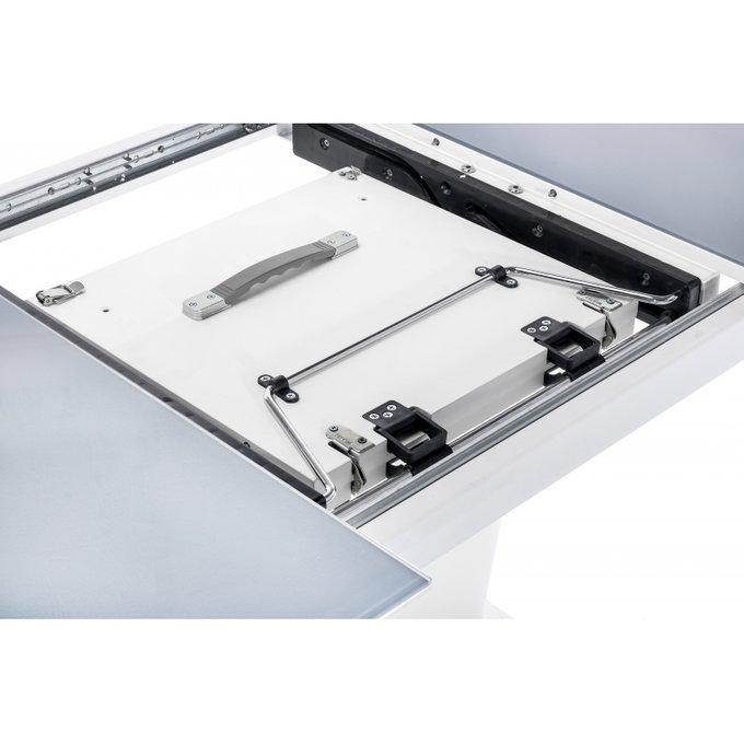 Обеденный стол Forex серо-белого цвета