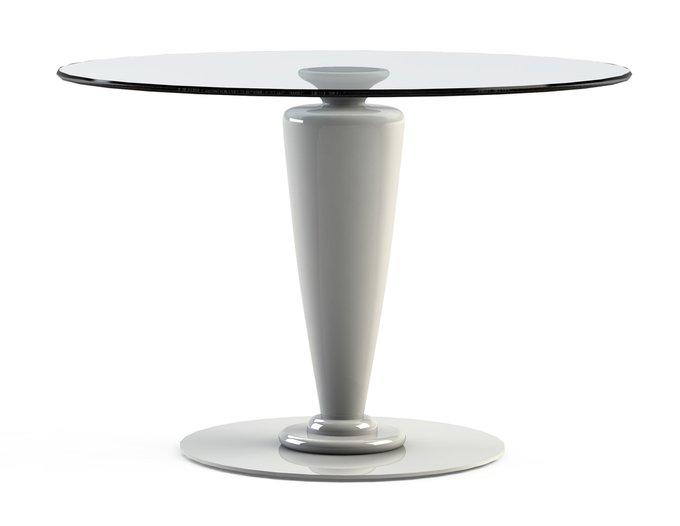 """Обеденный стол """"ABREGO White"""" с круглой столешницей из закаленного стекла"""