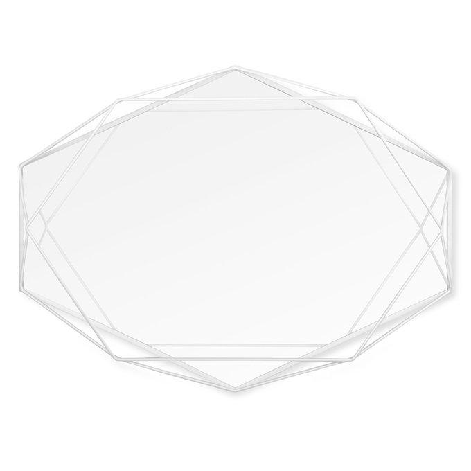 Зеркало настенное декоративное Prisma в белом цвете