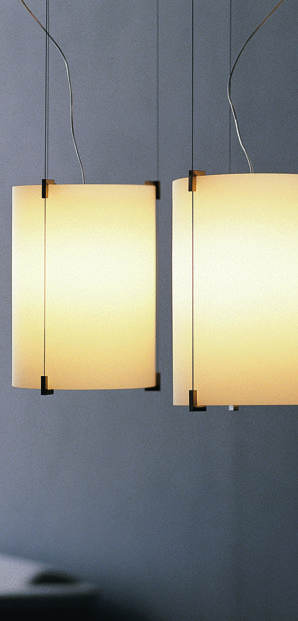 Подвесной светильник Prandina С ПЛАФОНОМ из стекла матового белого цвета
