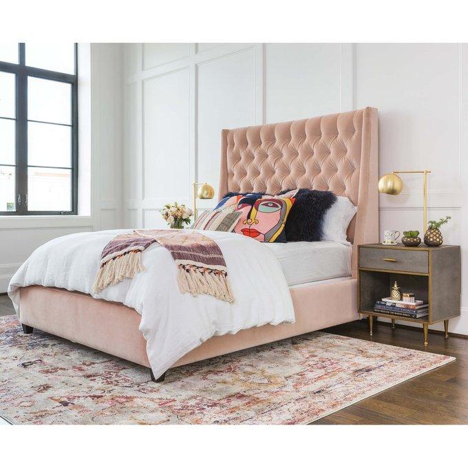 Кровать Ada розового цвета 160х200