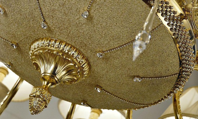 Подвесная люстра Sarri DIAMANTE с белыми абажурами