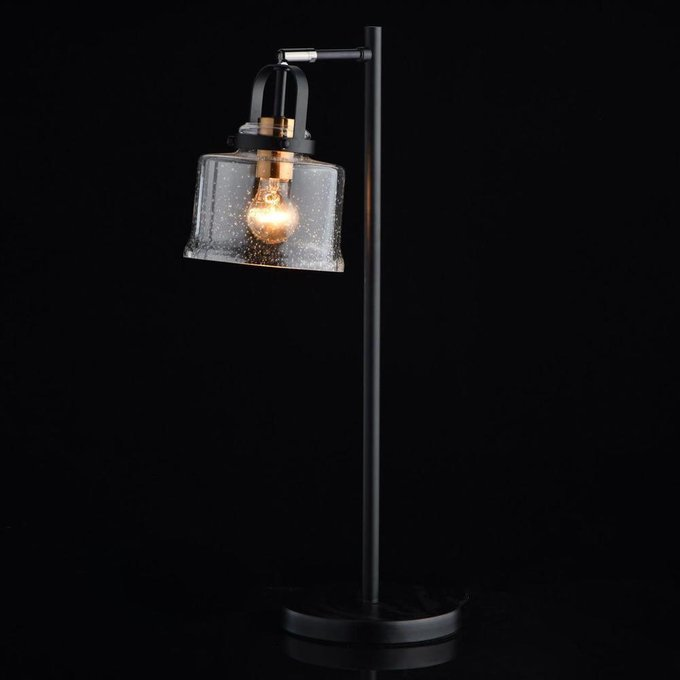 Настольная лампа Вальтер с прозрачным плафоном