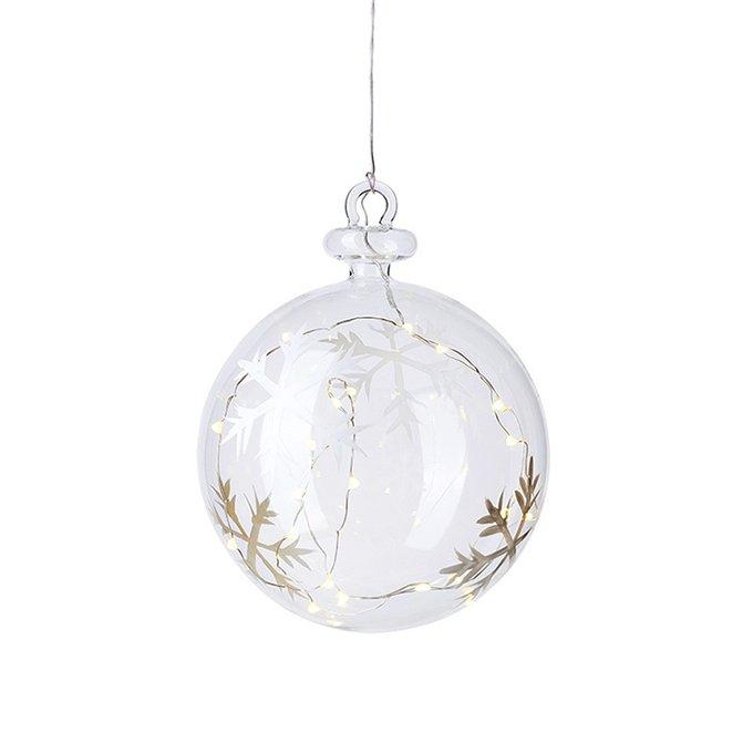 Новогодний шар с подсветкой и таймером Snowflake