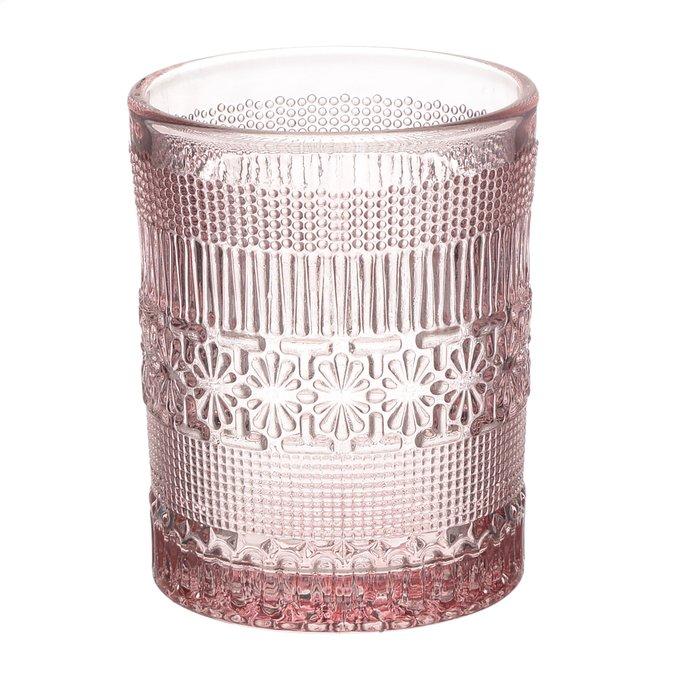 Набор из шести бокалов розового цвета