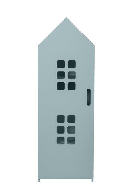 Стеллаж-домик City1 цвета аква