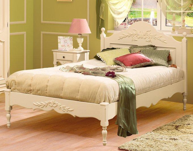 Кровать Снежный Прованс из массива бука 180х200 см