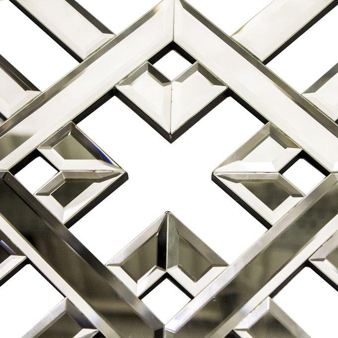 Декор настенный зеркальный Snowflake белого цвета