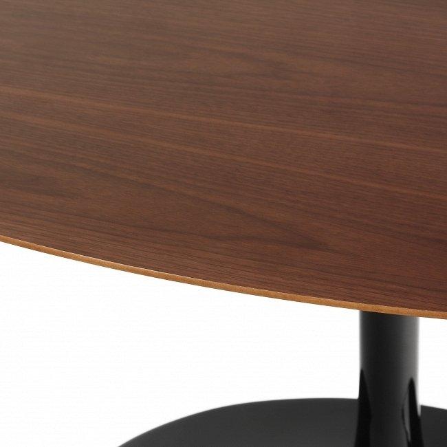 Стол обеденный Tulip Wood с коричневой столешницей
