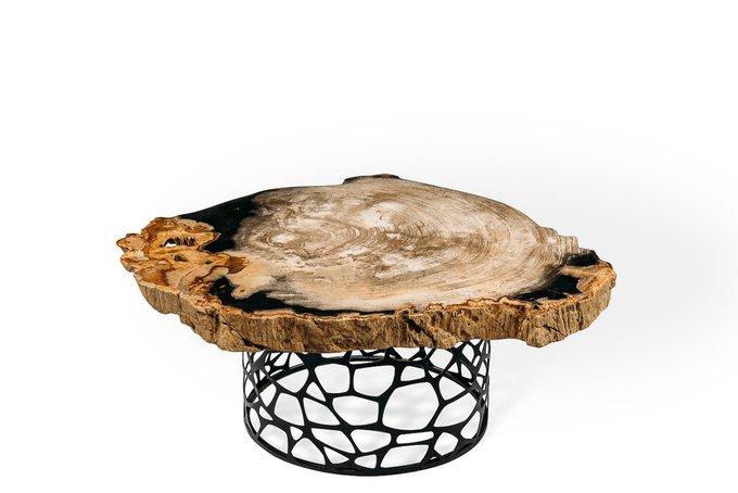 Журнальный стол Палиат из окаменелого дерева 381474