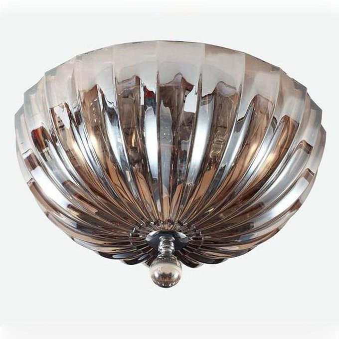 Потолочный светильник cognac с плафоном из стекла