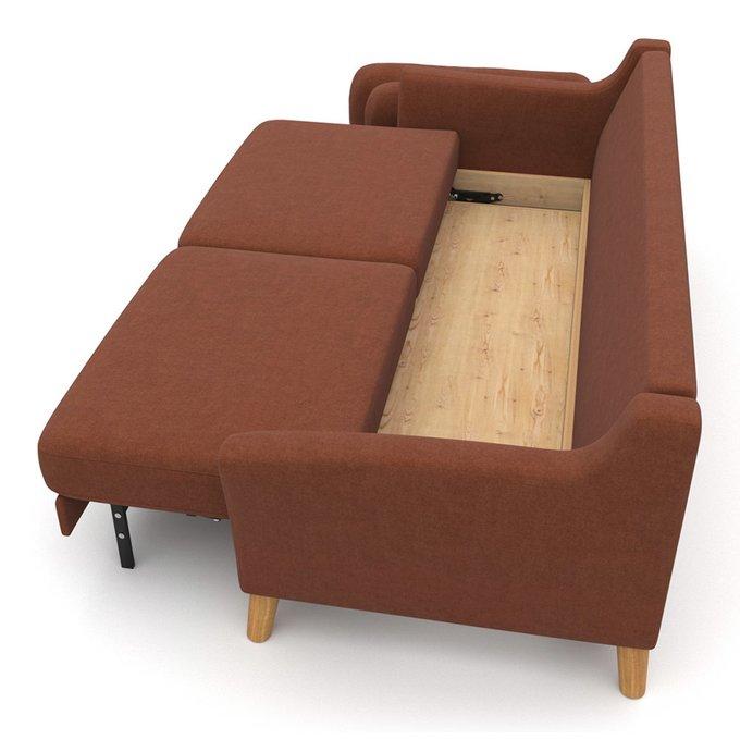Диван-кровать Raf EKH трехместный коричневый