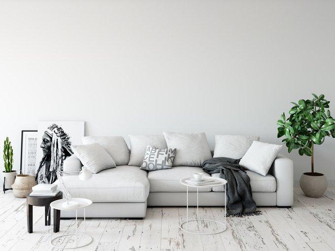 Модульный диван Lounge серого цвета