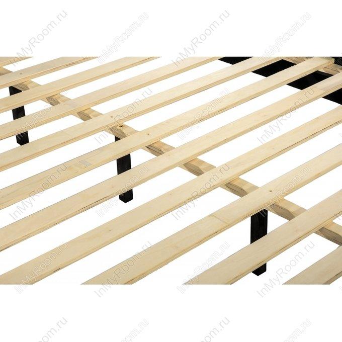 Кровать двуспальная Amber 160х200 светло-серого цвета
