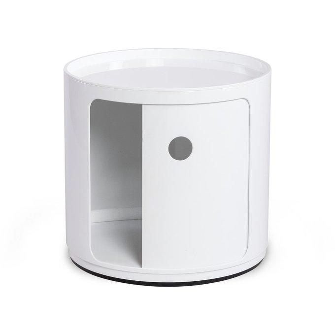 Тумба из пластика белого цвета