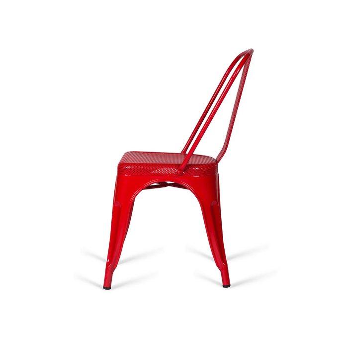Стул Tolix Marais PP красного цвета