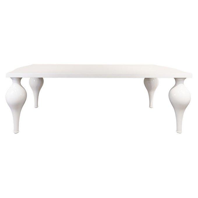 Обеденный стол Palermo с отделкой белым блестящим лаком
