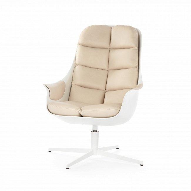 Кресло Mybird бежево-белого цвета