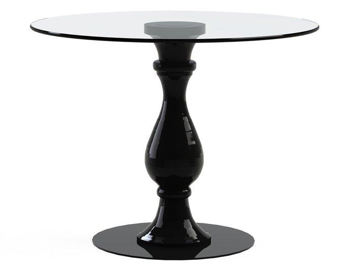 """столик обеденный """"ADVENTUS Black"""" с круглой столешницей из закаленного стекла"""
