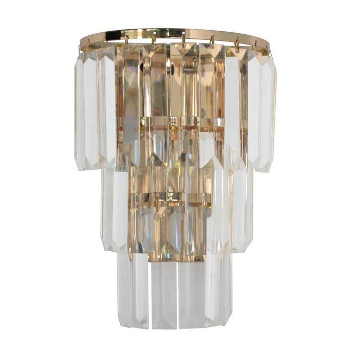 Настенный светильник Аделард с хрустальными подвесками