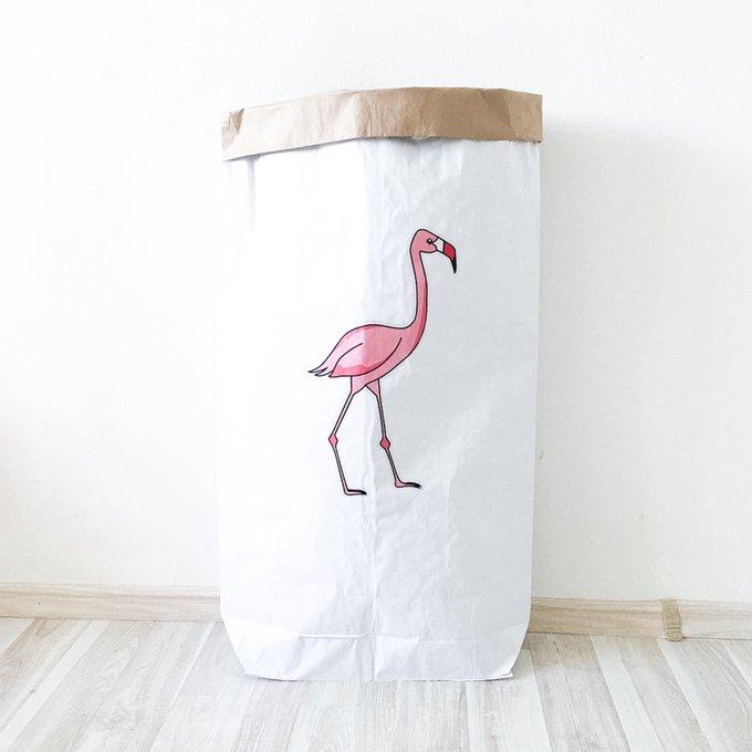 Эко-мешок для игрушек из крафт бумаги Flamingo