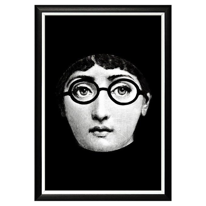 Арт-постер Лина версия Леннон в черно-белом цвете