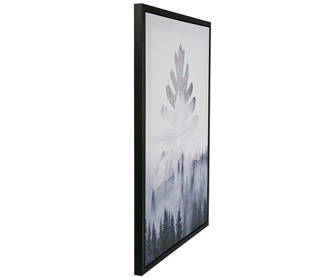 Панно на холсте leaf-cloud 60х80