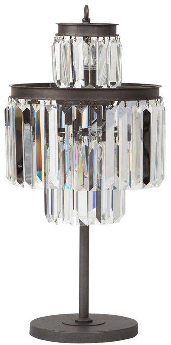 Дизайнерская настольная лампа из металла и стекла
