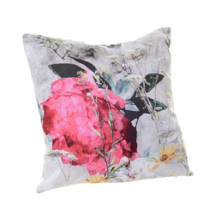 Декоративная подушка из хлопка и полиэстера