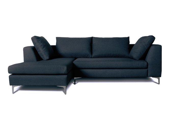 Диван угловой левый Siesta темно-синего цвета