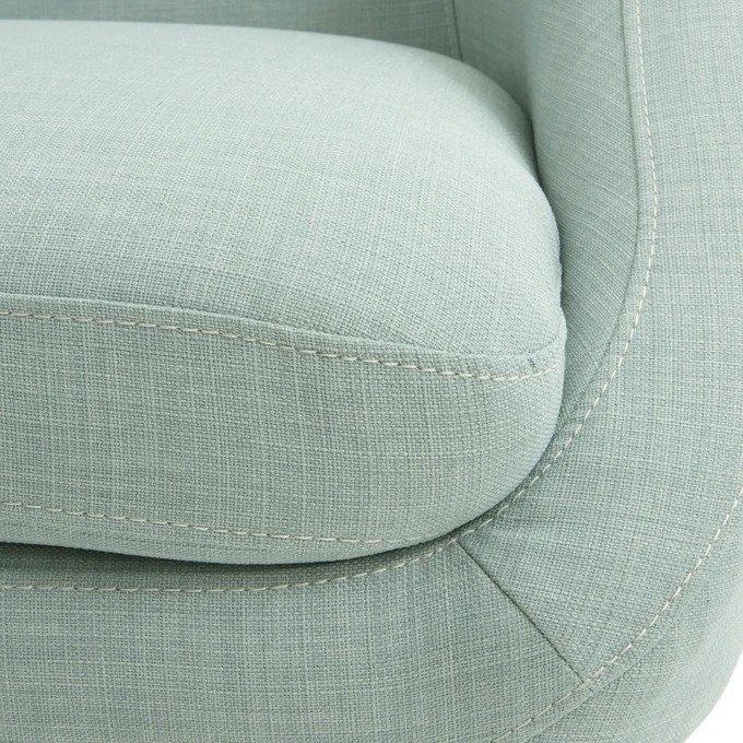 Прямой диван трехместный Smon светло-зеленого цвета
