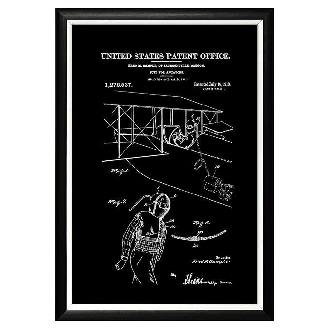 Арт-постер Патент на костюм летчика 1918