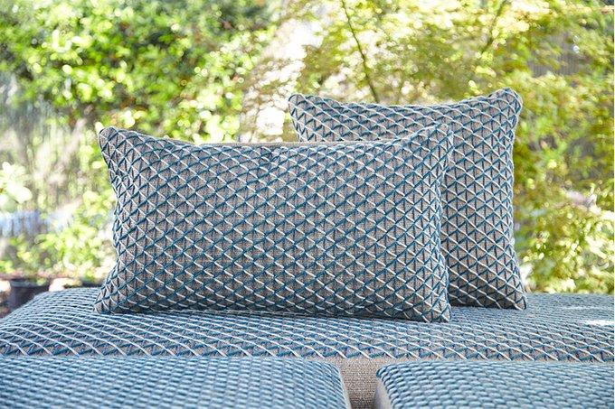 Подушка GAN Raw голубого цвета