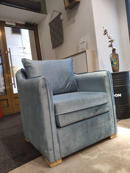 Кресло Arthur голубого цвета