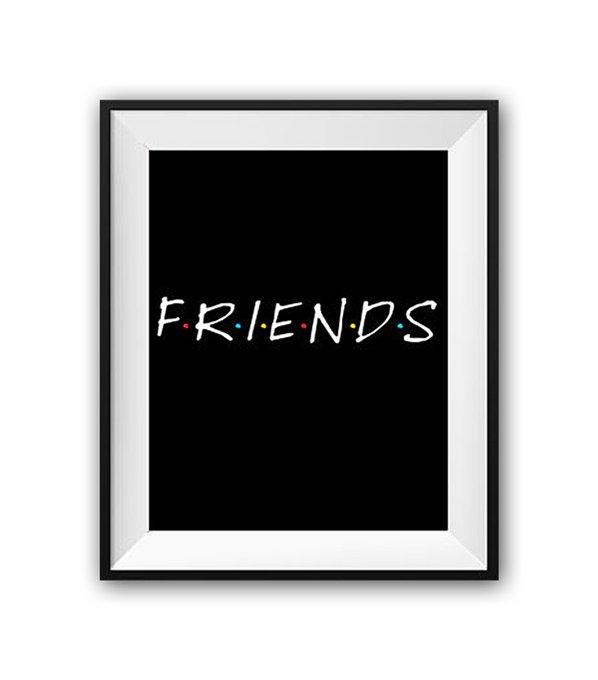 """Постер """"Friends"""" А4"""