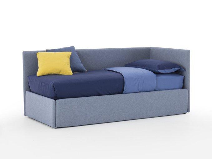 Односпальная кровать Джуниор синего цвета 90х190