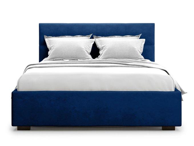 Кровать Garda 140х200 синего цвета с подъемным механизмом