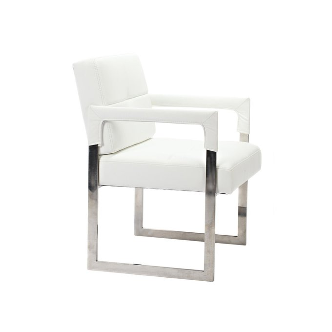 Кресло Aster Chair White Premium Leather