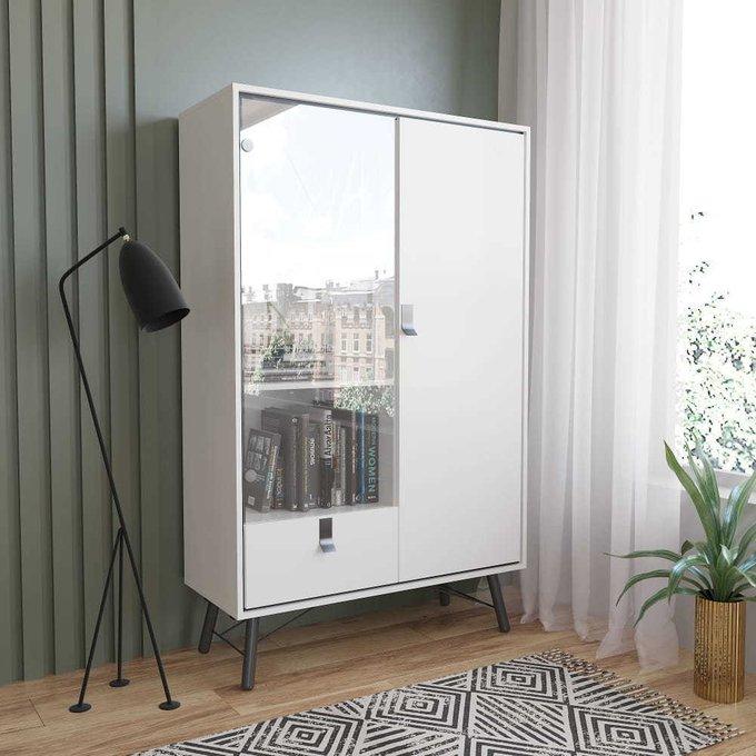 Шкаф-витрина RY Рай  белого цвета