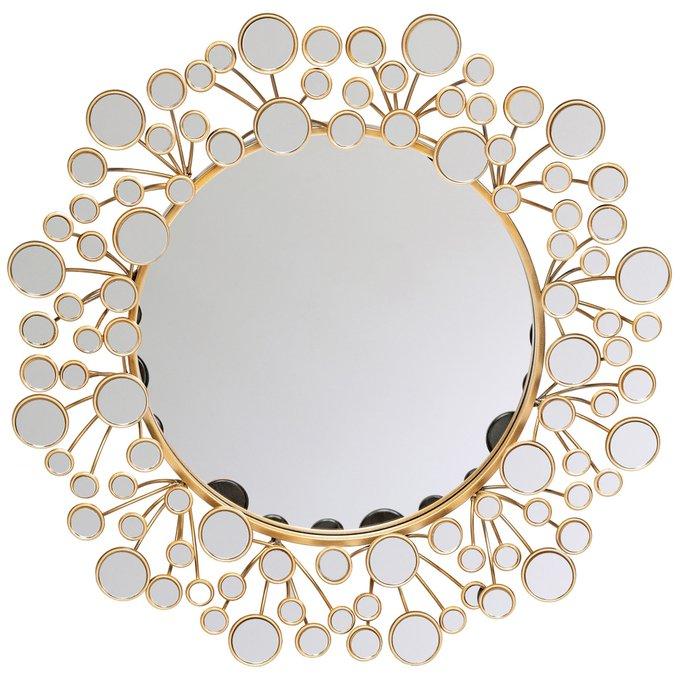 Настенное зеркало Сансет Роуз цвета розовое золото