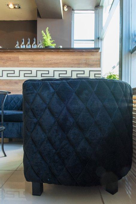Кресло Космос с отстрочкой бирюзового цвета