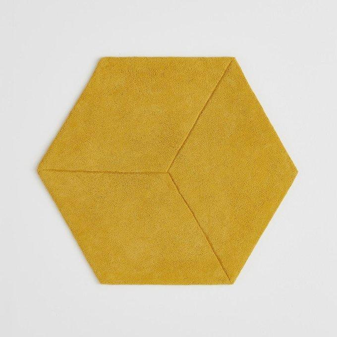 Ковер Camino шестиугольный из хлопка горчичного цвета