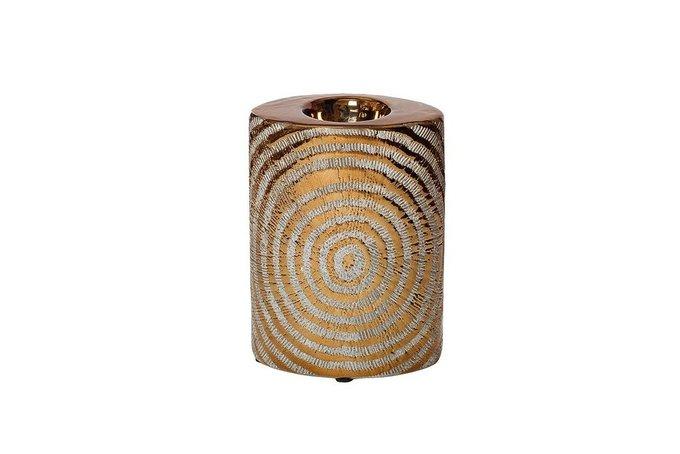 Подсвечник керамический золотого цвета