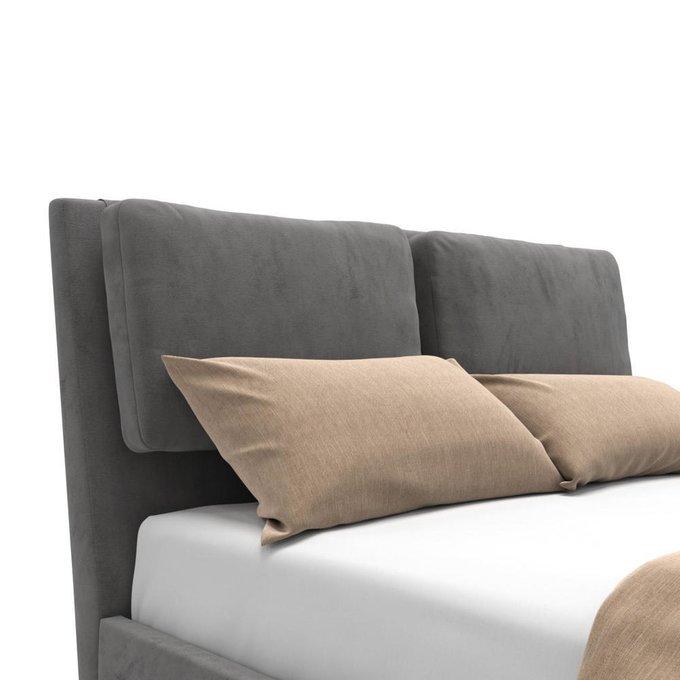 Кровать Parc на ножках серая 160х200